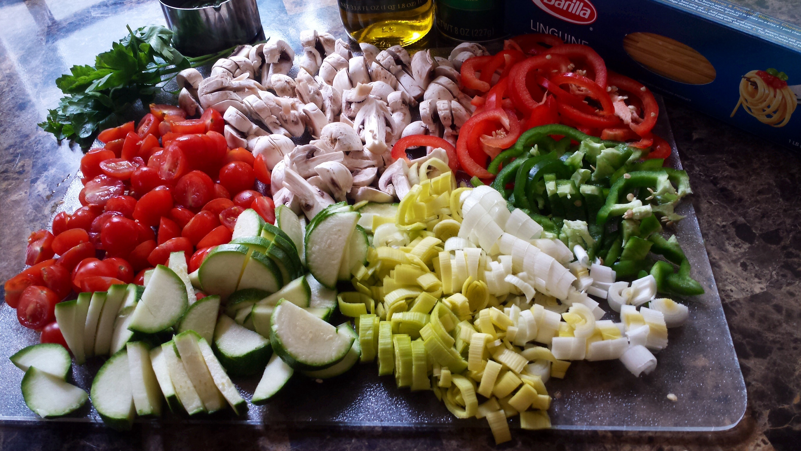 Step by step pasta primavera foodfellas 4 you next put a big pot of water to boil add some salt and a drizzle of oil to the water once the water comes to a rolling boil add the pasta i ccuart Image collections