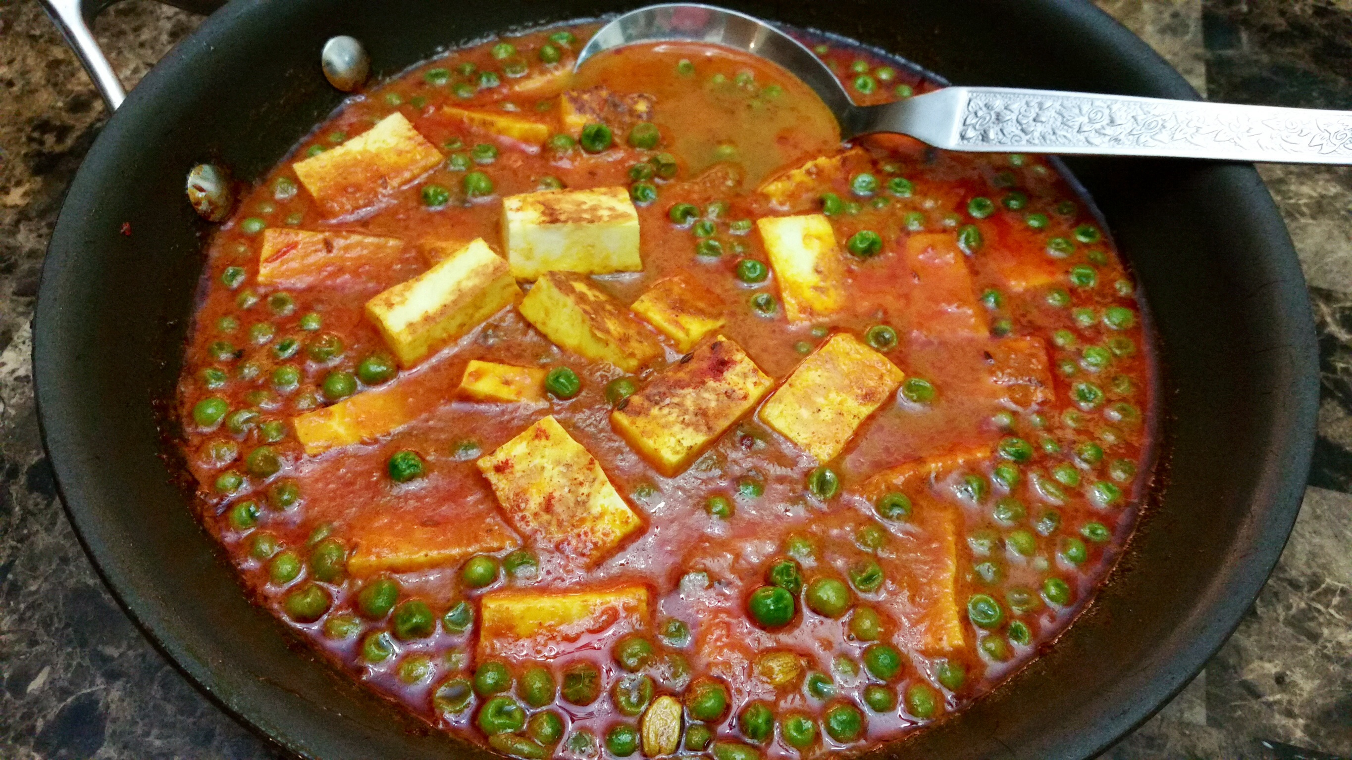 Step-by-Step Matar Paneer ..... My Way! - Foodfellas 4 You